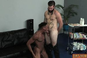 Muscle otter spin flop with assfuck..