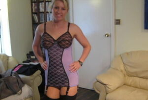 Lovely Cougar in Fabulous Undergarments