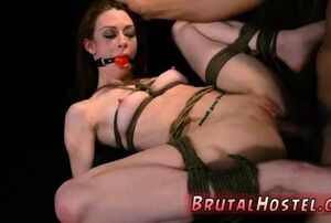 Restrain bondage  going knuckle deep..
