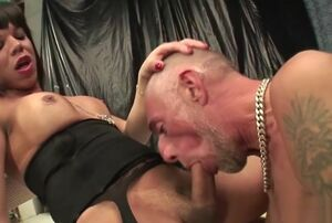 wild t-girl gonzo And Facial cumshot
