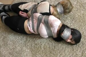 blb - 2 chicks duct taped..