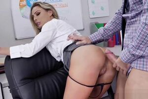 Isabelle Deltore takes her chief hog..