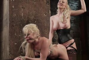 Big-chested blond assfuck fucked and..
