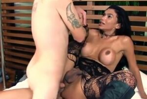2 folks 1 super-steamy t-girl