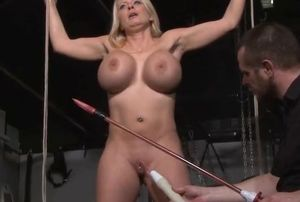 Big-boobed marionette Melanie Moons..