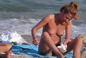 Hidden cam Beach  Unexperienced..
