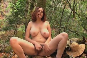 Big-chested Eleanor Rose  in the forest